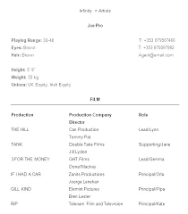 Acting Resume Template Impressive Acting Resumes Templates Sample Professional Resume