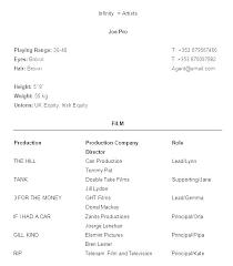 Theatre Resume Template Amazing Acting Resumes Templates Sample Professional Resume