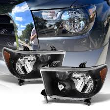 Black 2007-2013 Toyota Tundra 2008-2017 Sequoia Headlights ...