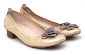 Details About Hispanitas Womens Eu Size 39 Gold Leather Dolly Shoes