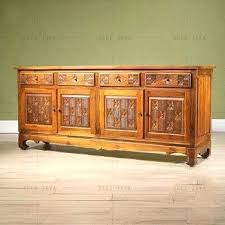 side cabinet hand carving teak wood four door drawers living room furniture kitchen sideboard glass ikea small unit for