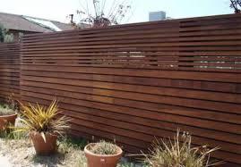 Modern Wood Fence Image