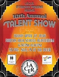 Lacers 10th Annual Fairfax Talent Show L A C E R