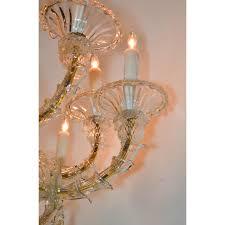 antique venetian multi color blown glass chandelier