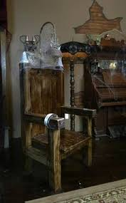 electric chair plans halloween. charles mckee built the faux electric chair, which serves as a focal point of chair plans halloween
