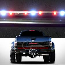 line of fire 60 red white led strip tailgate tail light bar chevy pickup truck chevy pickup trucks chevy pickups and white lead