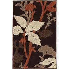 blooming flowers brown rust 2 ft x 3 ft ter rug