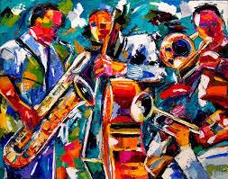 abstract jazz art painting texture by debra hurd