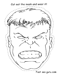 Small Picture Printable Superheroes Hulk face cut out Coloring pagesjpg 590764