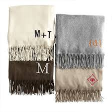 monogrammed wedding gifts monogrammed throw blankets