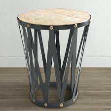 living room end tables accent tables drum end table drum round end table black drum table lampshade kitchen drum side table target