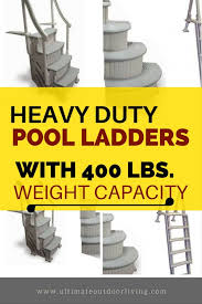 stay safe this summer and get this heavy duty 400 lbs weight limit pool ladder