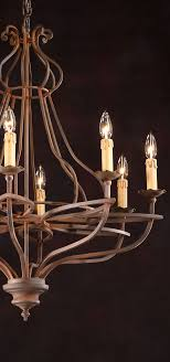 rustic lighting ideas. burnished handwrought iron chandelier rustic lighting ideas