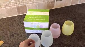 silicone wine glasses unbreakable shatterproof flexible rubber color cups glamping gear you
