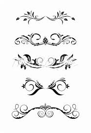 Scroll Border Designs Vintage Scroll Vintage Borders Design Elements