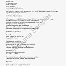 Manual Tester Resume Format Qa Sample Testing For 4 Years
