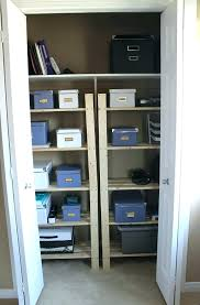 home office in a closet. Amusing Office Closet Organization Supply Organizer For Room Home Ideas In A