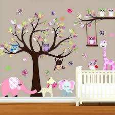 baby wall stickers wall stickers large baby nursery woodland wall decal baby girl wall decal children
