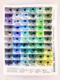 Daniel Smith Watercolor 238 Dot Color Chart Artist Lydia