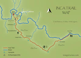 Inca Trail Elevation Chart Inca Trail Map And Elevation Profile New Peruvian