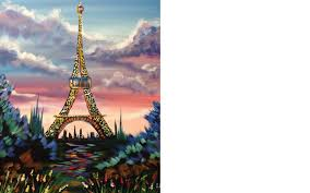 beginners acrylic painting eiffel tower with stunning sunrise tutorial you