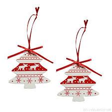 2er Set Baum Weihnachtsanhänger Aufhänger Baumschmuck