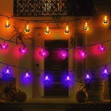 Indoor Halloween Lights Us 2 54 20 Off Outdoor Halloween Decorations Lights 10 20 Led Pumpkin Spider Bat Skull String Light Battery Operated For Indoor Halloween Party In