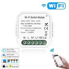 <b>Умный</b> двухпозиционный <b>WiFi</b> переключатель / <b>Wi</b>-<b>Fi</b> Switch Module