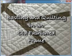 Baltimore Garden Quilts: Basting and Quilting in an Old Fashioned ... & Basting and Quilting in an Old Fashioned Frame Adamdwight.com