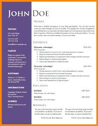 Download Free Modern Resume Templates For Word Template Resume Word Free Download
