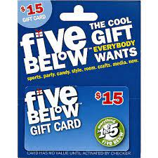 Check spelling or type a new query. Five Below Gift Card 15 Gift Cards Matherne S Market
