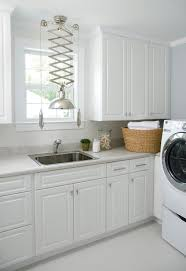 White Laundry Room Cabinets view full size