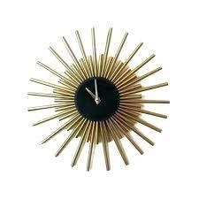 gold sunburst wall decor image 0 clock mid century starburst gol