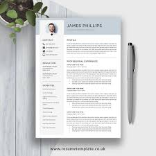 Word Resume Layout Professional Resume Template Word Design Simple Cv Template