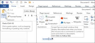How to Create Custom ScreenTips in Word 2013