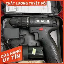 Máy khoan HITACHI pin 12V - Máy khoan 3 chức năng 12V - bắt vít - bắn tôn -  khoan gỗ - khoan sắt - 2 PIN - Máy khoan