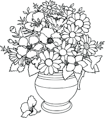 flowers coloring page. Plain Page Flower Coloring Page Pages And Flowers E