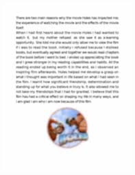 essay on holes by louis sachar holesbylouissachar projectbyxxxxxx image of page 2