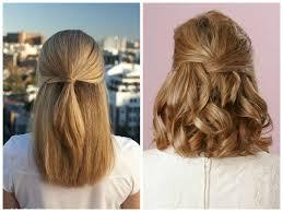 Half Updo For Straight Medium Length Hair