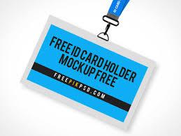 Mockup amp; Card Holder Mockups Lanyard Badge Id - Psd