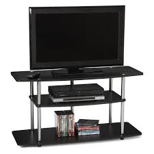 Tv Stand Black Convenience Concepts Designs2go No Tools 3 Tier Wide Tv Stand