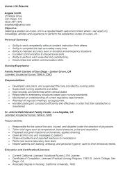 Objective For Lpn Resumes Lpn Resume Examples Example Document And Resume
