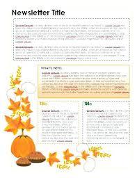 october newsletter ideas newsletter ideas october template monthly for teachers free