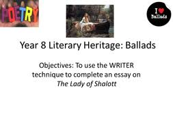 teaching ballads sow part lady of shalott by stealthteaching   12 the lady of shalott essay ppt