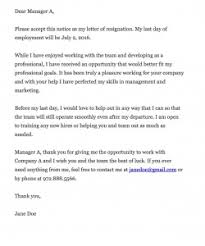 good letter of resignation resignation letter sample effective immediately personal reason