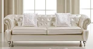 ludovik crystal tufted leather sofa set ludovik crystal tufted leather sofa