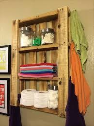 reclaimed pallet bathroom wall hanging shelf