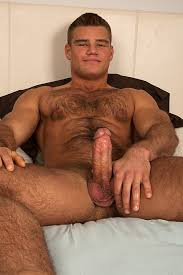 Muscle long hairy cock