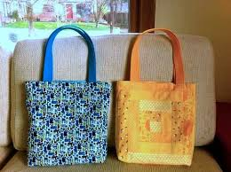 Free Tote Bag Patterns Delectable Patchwork Tote Bag Free Sewing Tutorial Love To Sew