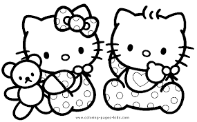 Small Picture Hello Kitty color page Coloring pages for kids Cartoon